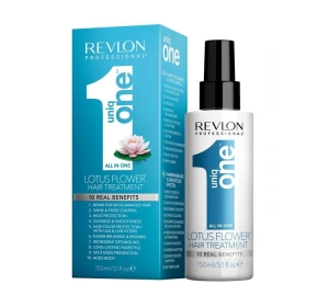 Revlon Uniq One Lotus Flower Hair Treatment - Maska z Kwiatem Lotosu w Sprayu 10in1 - 10 Korzyści 150 ml