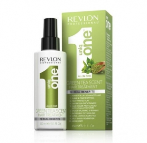 Revlon Uniq One Green Tea Scent Hair Treatment - Maska z Zieloną Herbatą w Sprayu 10in1 - 10 Korzyści 150 ml