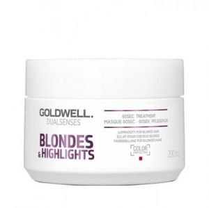 Goldwell Dualsenses Blondes & Highlights 60sec Treatment - Maska do Włosów Blond 200 ml