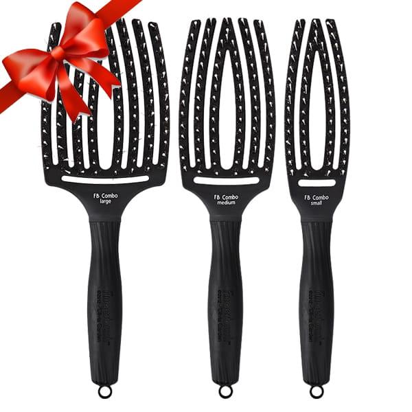 Zestaw 3 Profesjonalne Szczotki Do Rozczesywania Olivia Garden Finger Brush S M L Lapuella